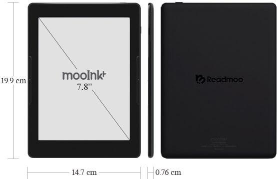 mooInk Plus 7.8 吋電子書閱讀器 規格列表