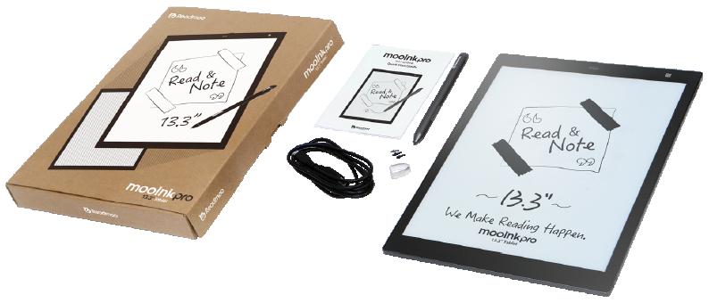 mooInk Pro 13.3 吋電子書閱讀器 規格介紹視覺圖
