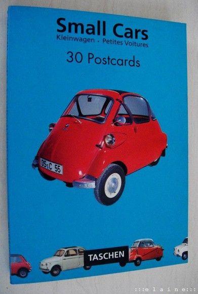 Small Cars Postcard Book