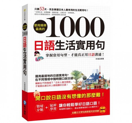 使用頻率最高的1000日語生活實用句(隨書附贈MP3)
