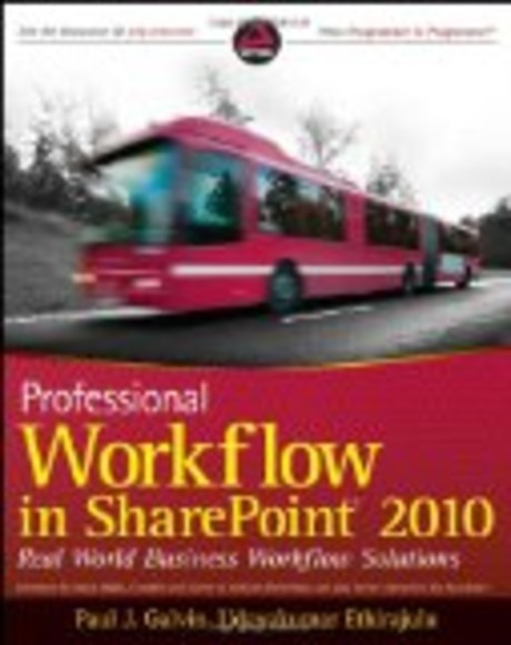 Professional Workflow 4 in SharePoint 2010