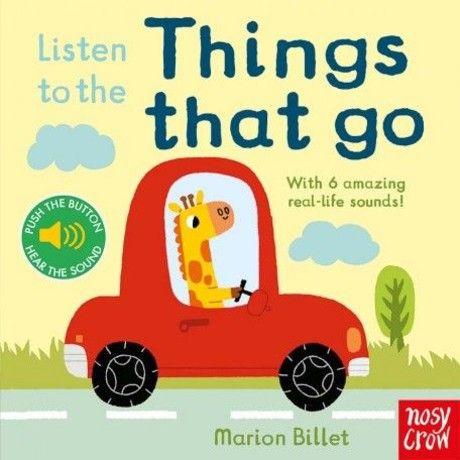 Listen To The Things That Go 認識交通工具的聲音 硬頁操作有聲書(外文書)