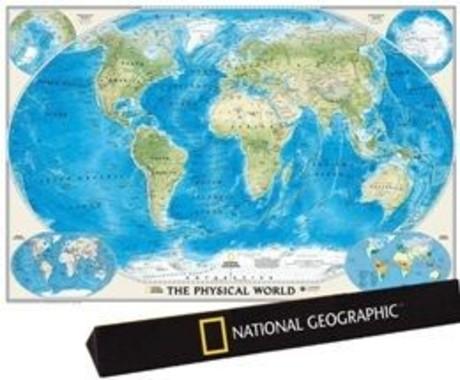 國家地理經典世界地圖:地形地圖
